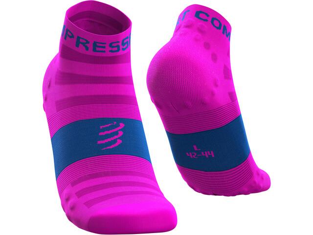 Compressport Pro Racing V3 Ultralight Chaussettes basses de running, fluo pink